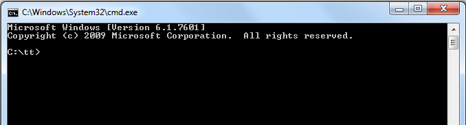 Command Prompt with desired location