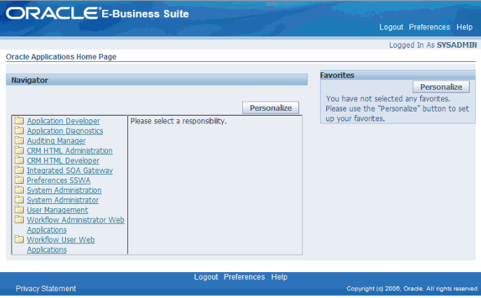 Oracle EBS Applications