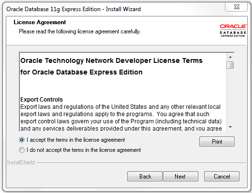 Detailed steps to install Oracle XE 11g database - Testing Tools