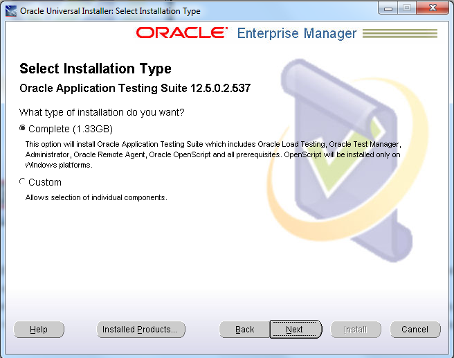 Steps to install OATS 12 5 0 3 - Oracle Application Testing