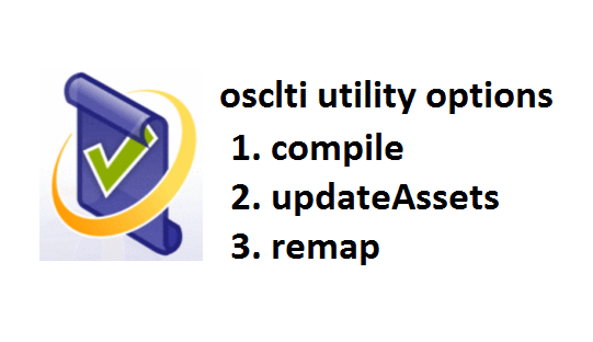 3 options of osclti, the command line utility of Oracle Application Testing Suite
