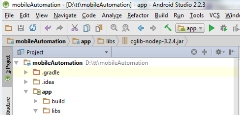 Configure android project with Selenium libraries - Testing