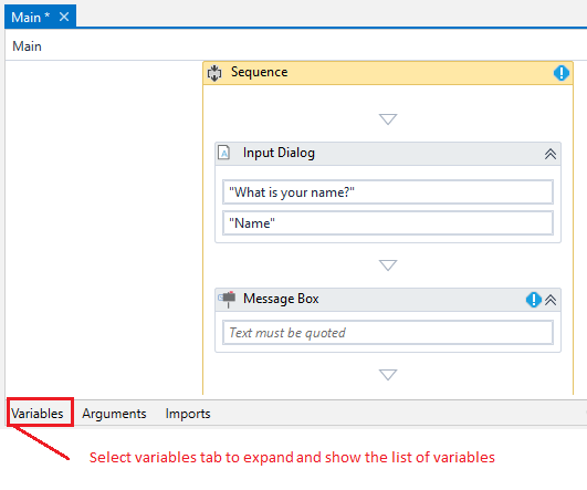 How to create variables in UiPath - RPA - Robotic Process Automation