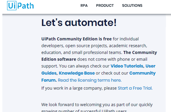 How to install UiPath community edition - Testing Tools