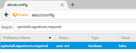 OATS browser addon for firefox is not enabled - signature