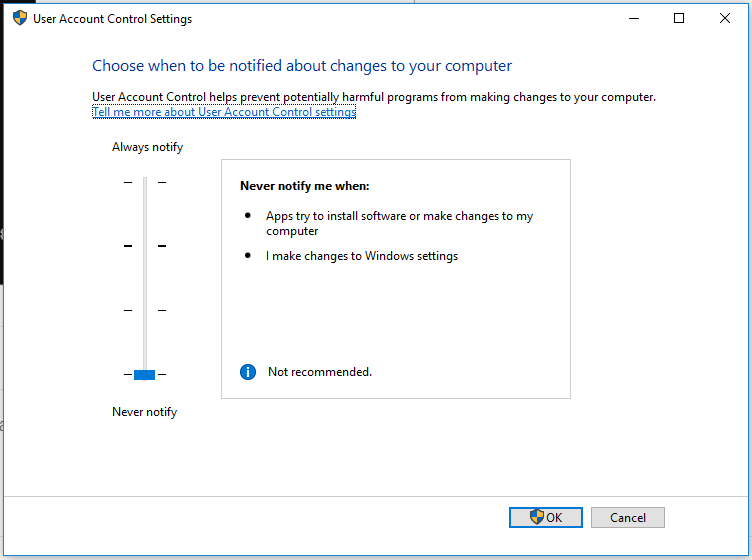Always run command prompt as administrator windows 10